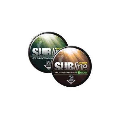 Korda Vlasec Subline Ultra Touch Brown 12lb 0,35mm 1000m