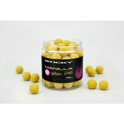 Sticky Baits Plovoucí Boilies Manilla Pop-Ups 12mm 100g Yellow Ones