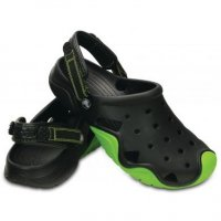 Crocs Nazouváky Swiftwater Clog vel.8 / 42 Black/Volt Green