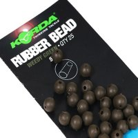 Korda Gumový Korálek Rubber Beads 5mm Brown hnědá 25ks