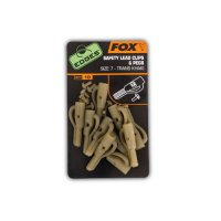 Fox Edges Size 7 Lead Clips + Pegs khaki 10ks