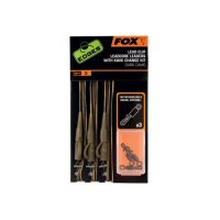 Fox Edges Hotové montáže Dark Camo Lead Clip Leadcore Leader With Kwik Change Kit 3ks