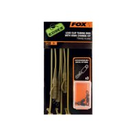 Fox Edges Hotové montáže Trans Khaki Lead Clip Tubing Rigs With Kwik Change Kit 3ks