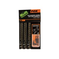 Fox Edges Hotové montáže Green 30lb Submerge Leaders With Kwik Change Kit 3ks poslední 3ks