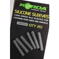 Korda Silikonová bužírka Silicone Sleeves Green 3mm 20ks