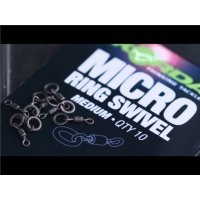 Korda Obratlík s kroužkem Micro Rig Ring Swivel medium 10ks