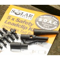 Solar Závěs na olovo Safety Lead Clip Kit Black 5ks