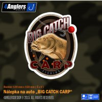 4Anglers Design nálepka Big Catch Carp 120x150mm