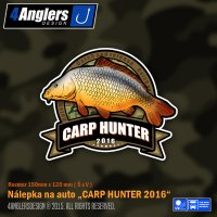 4Anglers Design nálepka Carp Hunter 2016 150x120mm