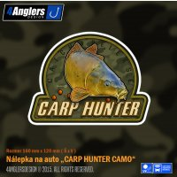 4Anglers Design nálepka Carp Hunter Camo 160x120mm