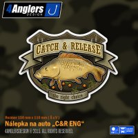 4Anglers Design nálepka Catch & Release 150x110mm